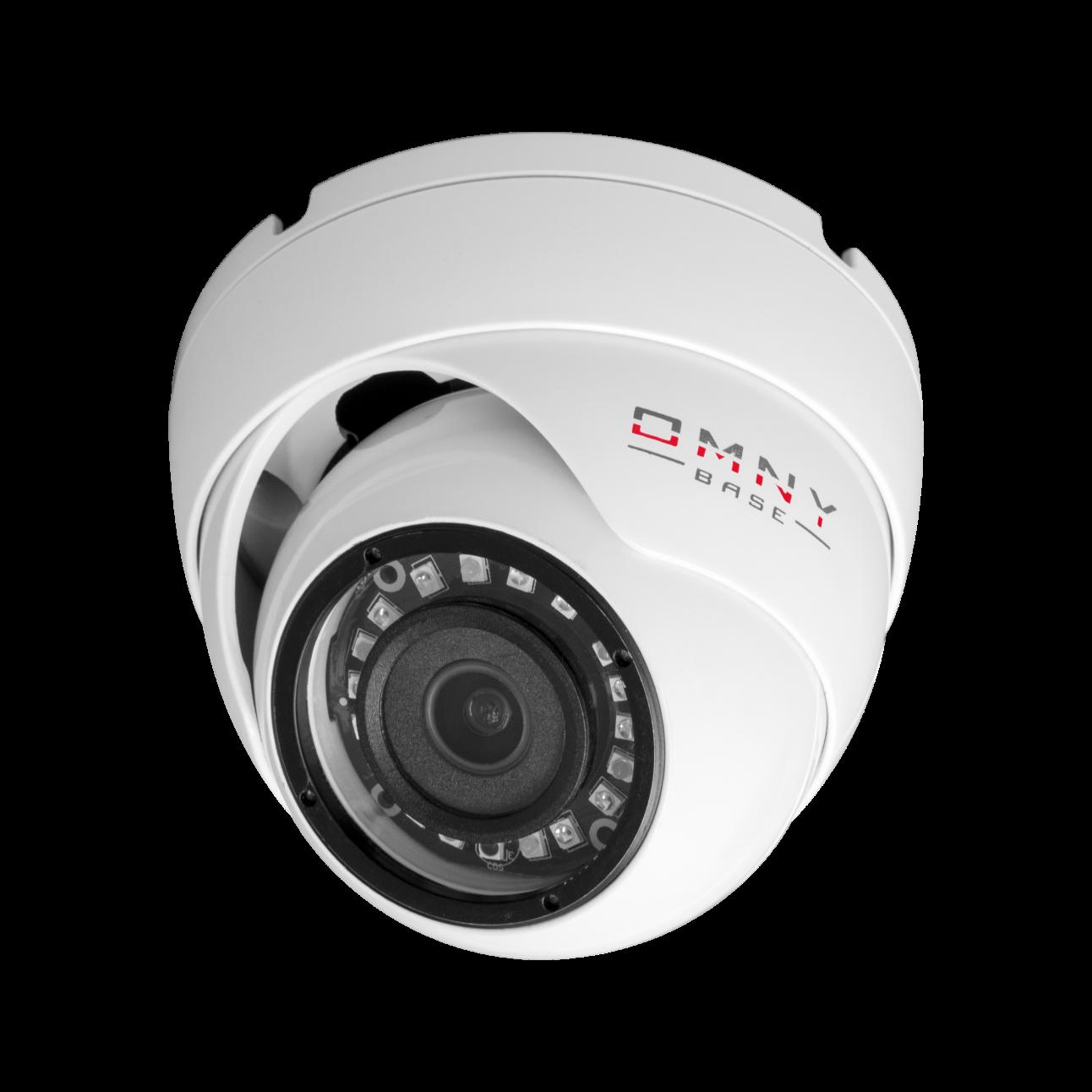 IP камера OMNY BASE miniDome2E-WD-12V 28, купольная 2Мп (1920×1080) 30к/с, 2.8мм, F2.0, 12±1В DC, ИК до 25м, EasyMic, WDR 120dB