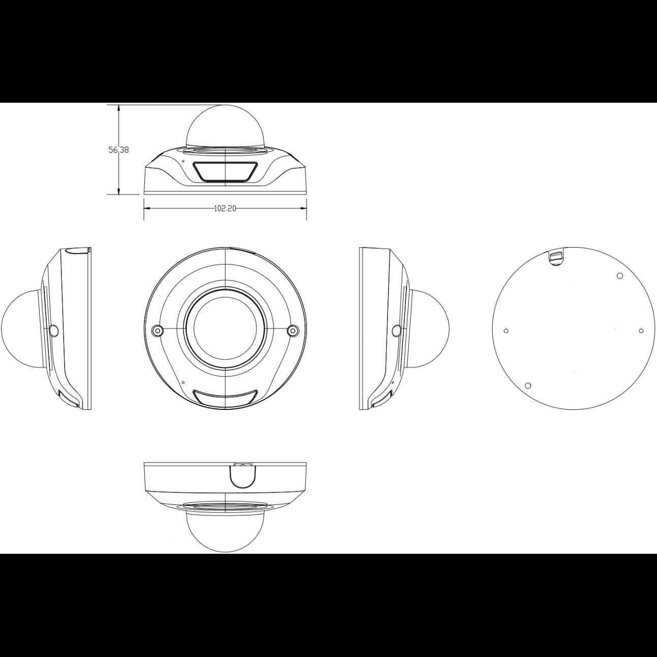 IP камера видеонаблюдения  OMNY серия BASE miniDome4A купольная 4.0Мп, 1.7 мм, PoE, 12 В, ИК, встр. микр. (уценка)