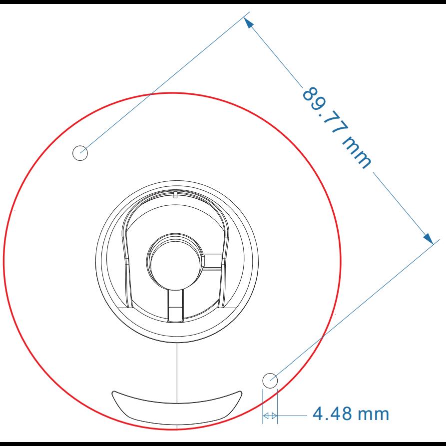 IP камера OMNY BASE miniDome4A-WD миникупольная 4Мп (2592x1520) 18к/с,  1.7мм, F2.0, 802.3af A/B, 12±1В DC, ИК до 15м, встр. микр, WDR 120dB