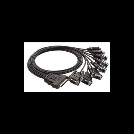 """OPT-8D+ (CBL-M68M9X8) Разветвительный кабель для 8-портовых плат PCI Express, разъем DB9 """"папа"""" MOXA"""