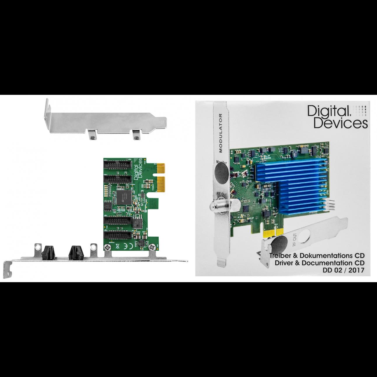 Карта расширения 4 интерфейса DuoFlex PCIe