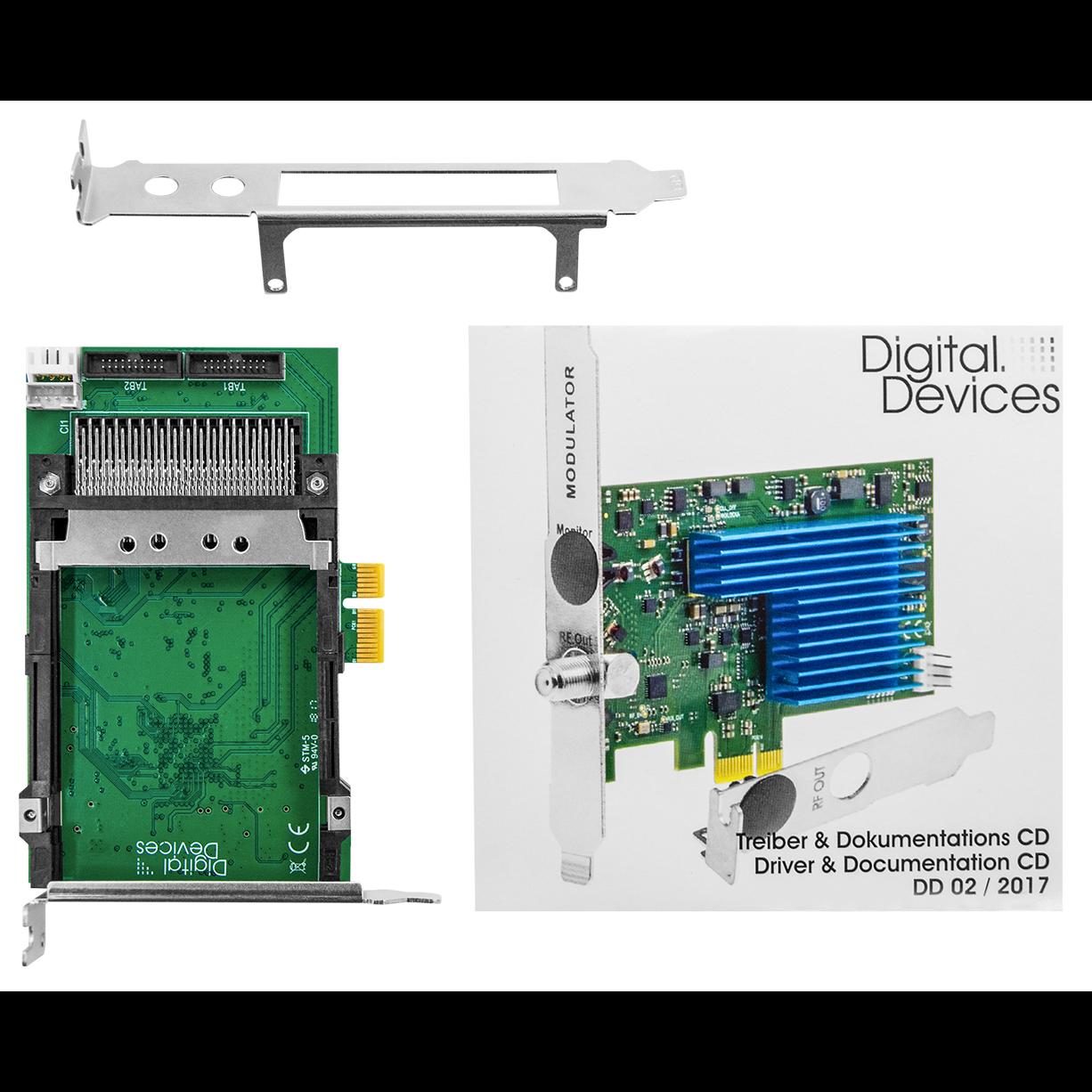 Карта расширения 2 CI интерфейса PCIe