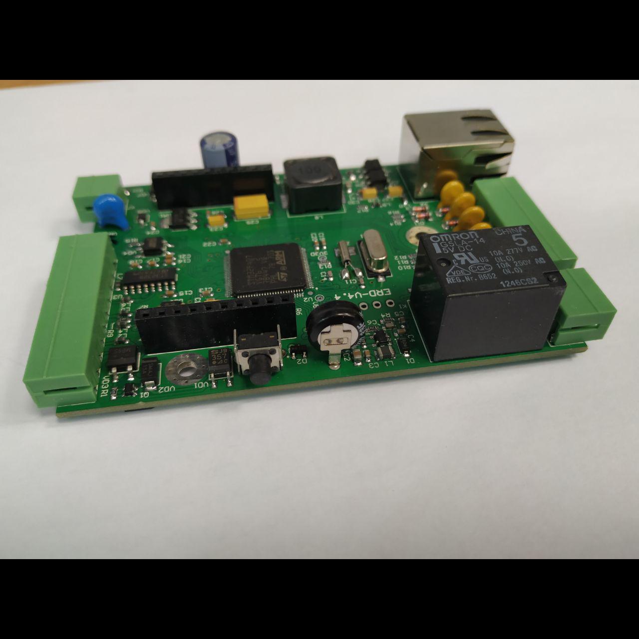 Плата ERD-V4.4 с установленными компонентами, некондиция
