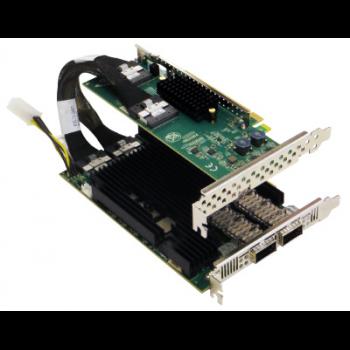 Сетевая карта  2 порта 40G/100GBaseX Content Director (QSFP28, Intel FM10840), Silicom PE3100G2DQIRM-QX4 с кабелем PE316IRM