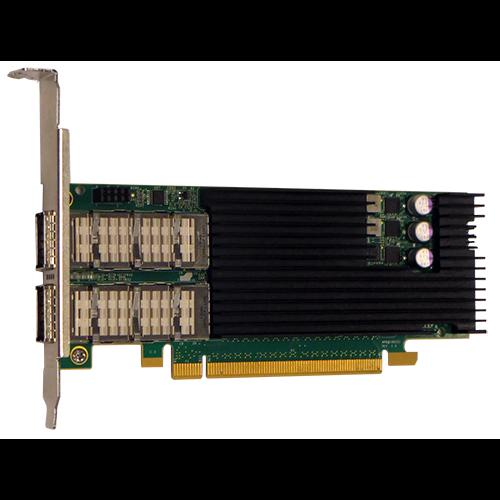 Сетевая карта 2 порта 10G/25G/40G/100GBaseX Content Director (QSFP28, Intel FM10420), Silicom PE3100G2DQiRL-QX4