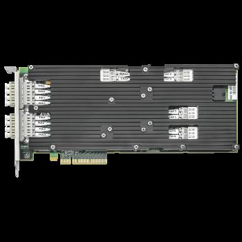 Сетевая карта 4 порта 1000Base-SX/10GBase-SR Bypass (LC, Intel 82599ES), Silicom PE310G4BPi9-SRD-SD