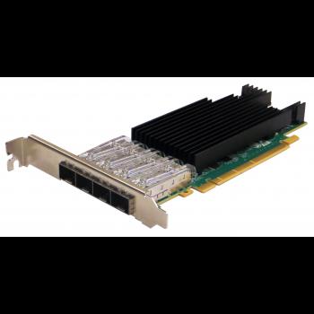 Сетевая карта 4 порта 25GBase-X (SFP28/zSFP+, Intel® XXV710 Based), Silicom PE31625G4I71L-XR