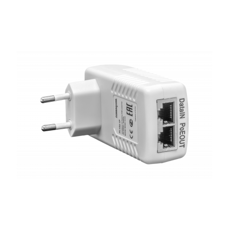 PoE инжектор неуправляемый PI-154-1P, 1x10/100BASE-TX 50В PoE passive, PoE бюджет 15.4Вт