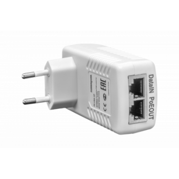 PoE инжектор неуправляемый PI-154-1P, 1x10/100BASE-TX 50В PoE passive, PoE бюджет 15.4Вт