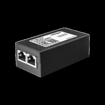 PoE инжектор неуправляемый PI-154-1PA, 1x10/100BASE-TX 50В PoE passive, PoE бюджет 15.4Вт