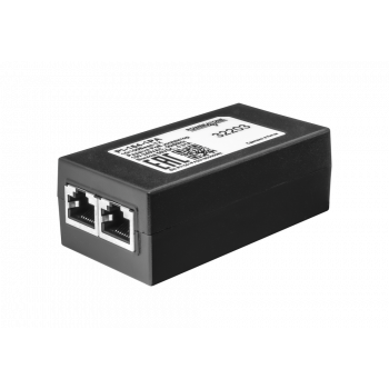 PoE инжектор неуправляемый PI-154-1PA, 1x10/100BASE-TX 50В PoE passive, PoE бюджет 15.4Вт