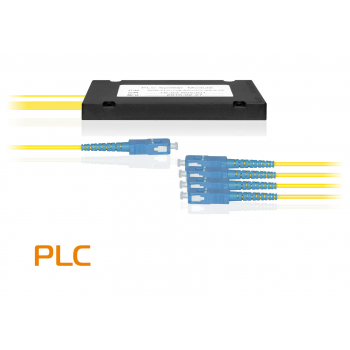 Делитель оптический планарный SNR-PLC-1x4, корпус, разъемы SC/UPC