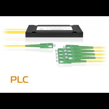 Делитель оптический планарный SNR-PLC-1x8, корпус, разъемы SC/APC