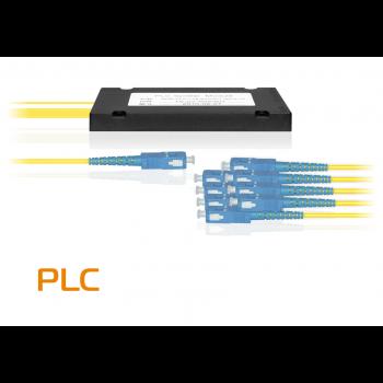 Делитель оптический планарный SNR-PLC-1x8, корпус, разъемы SC/UPC