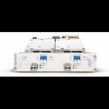 Транспондер Ekinops 2x10G SFP+ / OTX с поддержкой DynaFEC (10dB) и оптическими модулями SFP+LR и OTX
