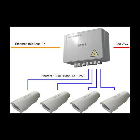 Уличный неуправляемый коммутатор PSW-1-45 для подключения 4 камер