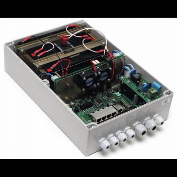 Уличный 6-портовый управляемый коммутатор TFortis PSW-1G4F-UPS со встроенным источником бесперебойного питания