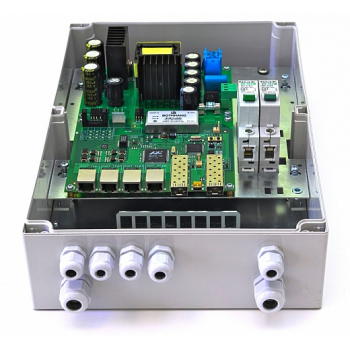 Уличный управляемый PoE коммутатор TFORTIS PSW-2G+ 4FE HiPoE +2 GB SFP порта, питание 220В, IP66