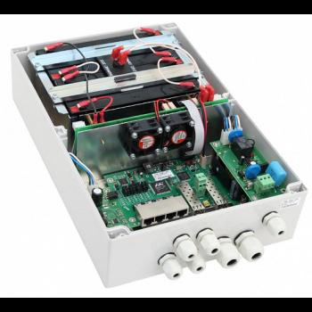 Уличный управляемый PoE коммутатор TFORTIS PSW-2G4F-UPS 4FE PoE +2 GB SFP порта, питание 220В, IP66 c системой бесперебойного питания, 4 АКБ в кмпл