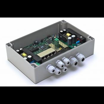 Уличный управляемый PoE коммутатор TFORTIS PSW-2G4F 4FE PoE +2 GB SFP порта, питание 220В, IP66