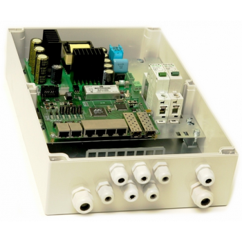 Уличный управляемый PoE коммутатор TFortis PSW-2G6F+ 4FE PoE+ 2FE dual PoE+ 2 GB SFP порта, питание 220В, IP66