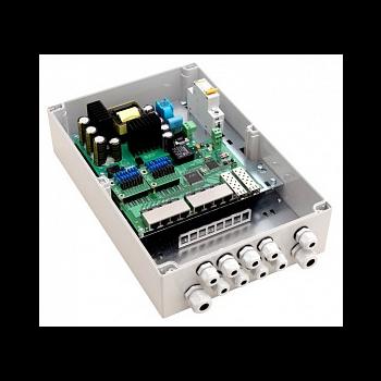 Уличный управляемый PoE коммутатор TFORTIS PSW-2G8F+ 8FE PoE +2GB SFP порта, питание 220В, IP66