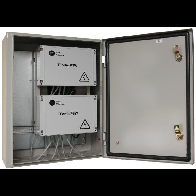 Уличный управляемый PoE коммутатор TFORTIS PSW-2G8F-Kit 8FE PoE +2 GB SFP порта, питание 220В, IP54