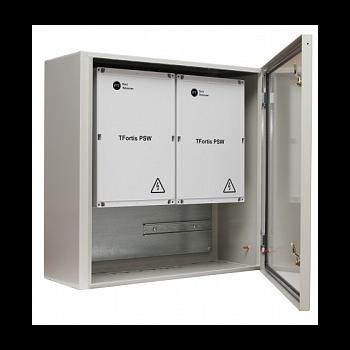 Уличный управляемый PoE коммутатор TFortis PSW-2G8F-UPS-Kit 8FE PoE +2 GB SFP порта, питание 220В, IP54, АКБ в комплекте