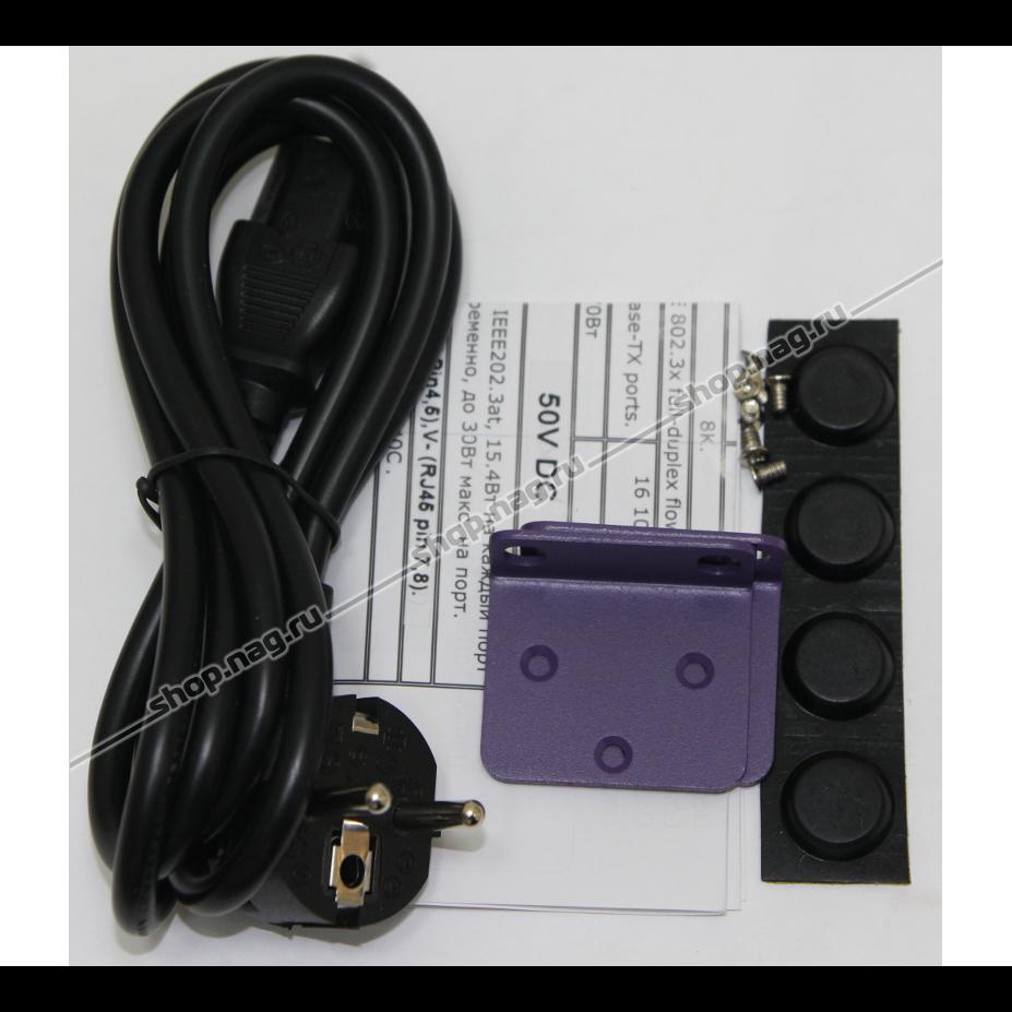 PoE коммутатор PUS-154-24-2L 26-портовый неуправляемый 802.3af  24*10/100BASE-TX + 2*1000 Комбо, 250Вт (имеет потертости)