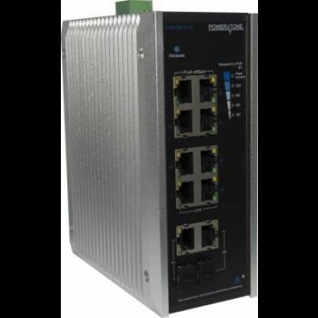 Уличный PoE коммутатор PUS-154-8-2i  8 10/100BASE-TX 802.3af&at+ 2Gb combo  расширенный диапазон температур, неуправляемый (некондиция)