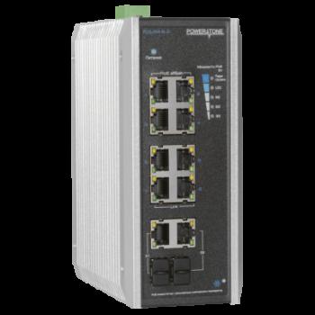 PoE коммутатор неуправляемый PUS-CC08-120i, 8x10/100BASE-TX 802.3af&at + 2хGb Combo, порт №2 до 60Вт, расширенный диапазон температур, внеш. БП 125Вт