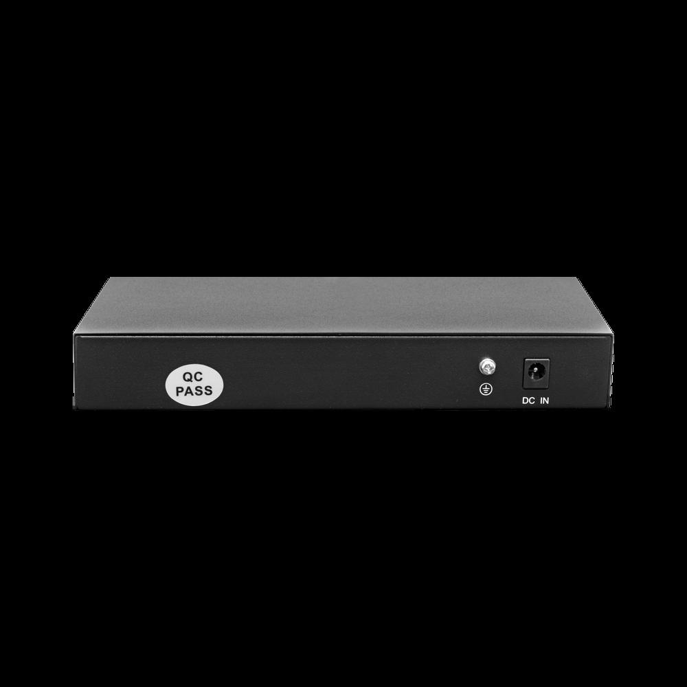 PoE коммутатор неуправляемый PUS-T08L-115M, 8x10/100BASE-TX 802.3af&at + 1х10/100/1000BASE-TX, c изол. портов, PoE бюджет 115Вт, до 30Вт на порт