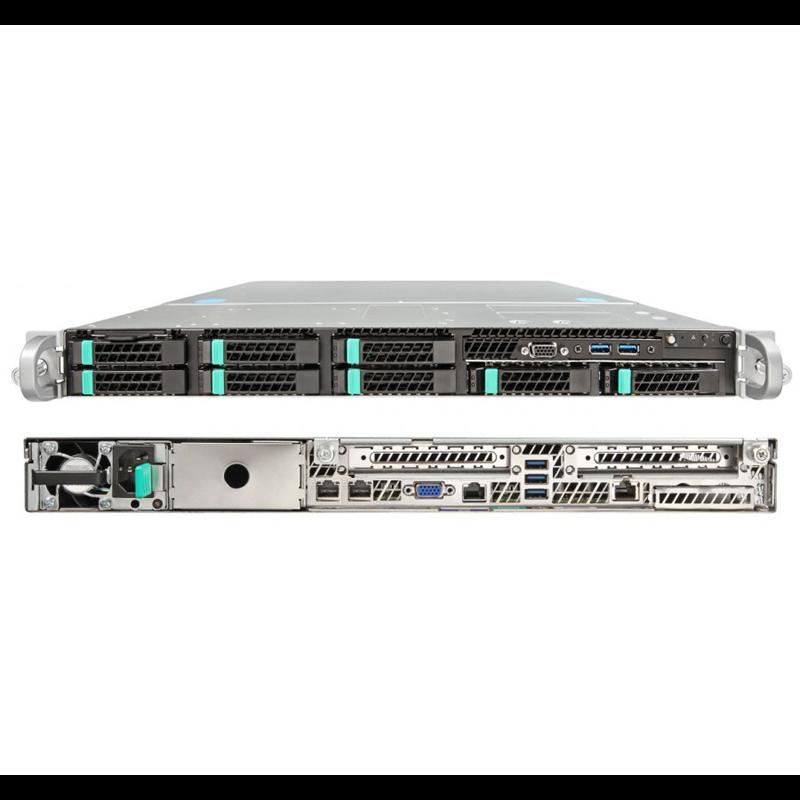 Серверная платформа Intel R1208WFTYSR 1U, до двух процессоров Intel Scalable, 24xDDR4, 8x2.5 HDD, 2x10Gb Base-T, 2xM.2 PCI-Ex4, 2x1100W PSU