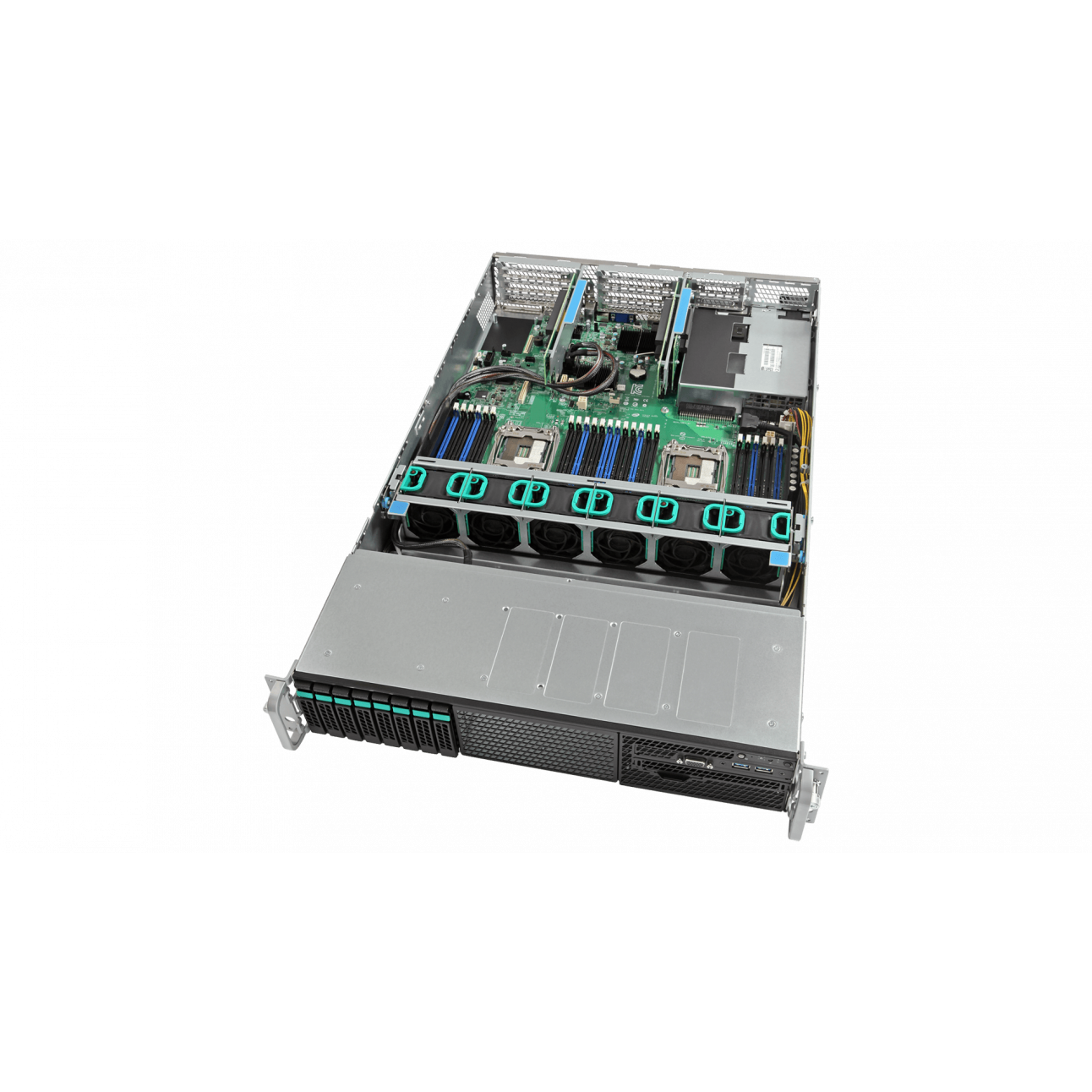 Сервер Intel R2208WT2YSR, 2 процессора Intel E5-2699V4, 128G DDR4, 2x240G SSD, 2x1GE, RPSU
