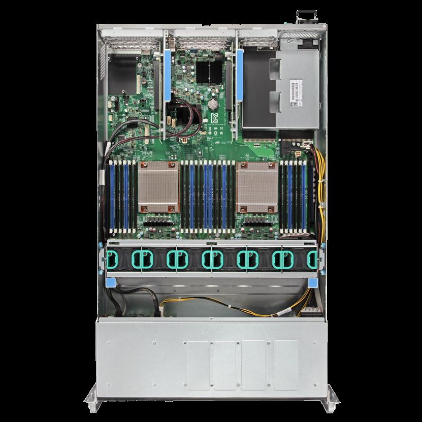 Серверная платформа Intel R2308WTTYSR 2U, 2xE5-2600V3/V4, 24xDDR4, 8x3.5 HDD, 1+0 1100W