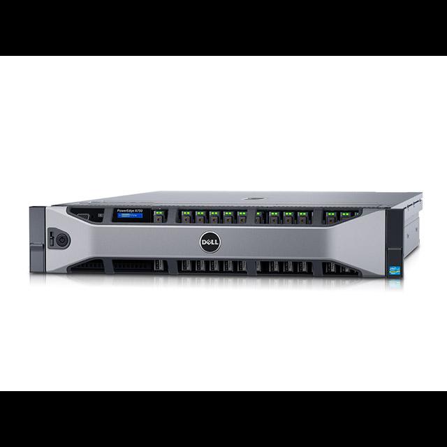 Сервер DELL PowerEdge R730, 2 процессора Intel Xeon 8C E5-2620v4 2.10GHz/20MB, 32GB DRAM, 8SFF, PERC H730/1GB FBWC