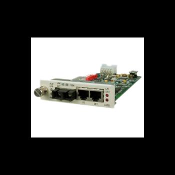 Карта 2xE1, 1xFE, встроенный трансивер для установки в шасси RC001-1