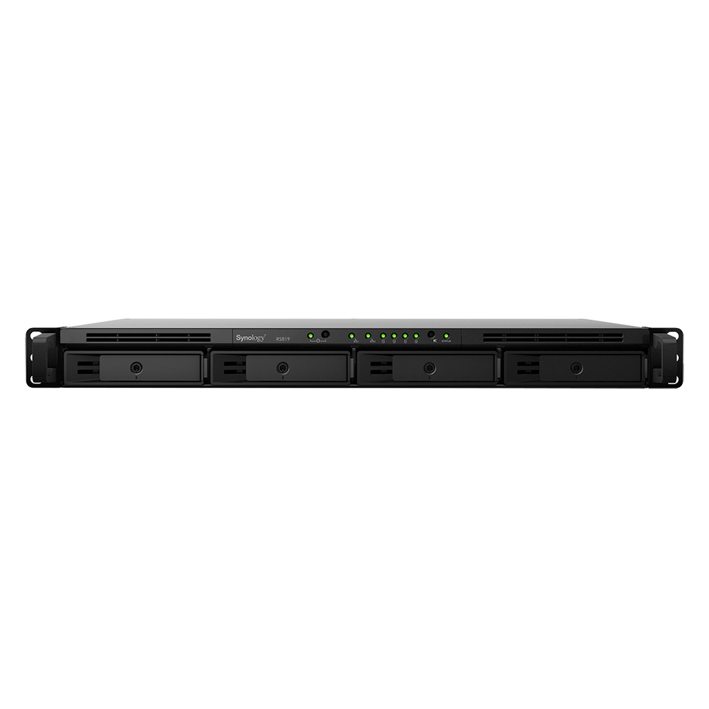 "NAS-сервер Synology RackStation RS819, 4xHDD 3,5"", 2х1000Base-T, один БП, без дисков"