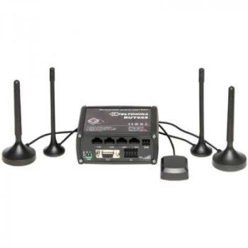 Промышленный Wi-Fi/4G маршрутизатор Teltonika RUT955 (в комплекте DIN-рейка, GNSS-антенна)