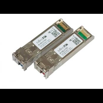 Комплект модулей Mikrotik SFP+ оптических, 10G, дальность до 10км, LC UPC