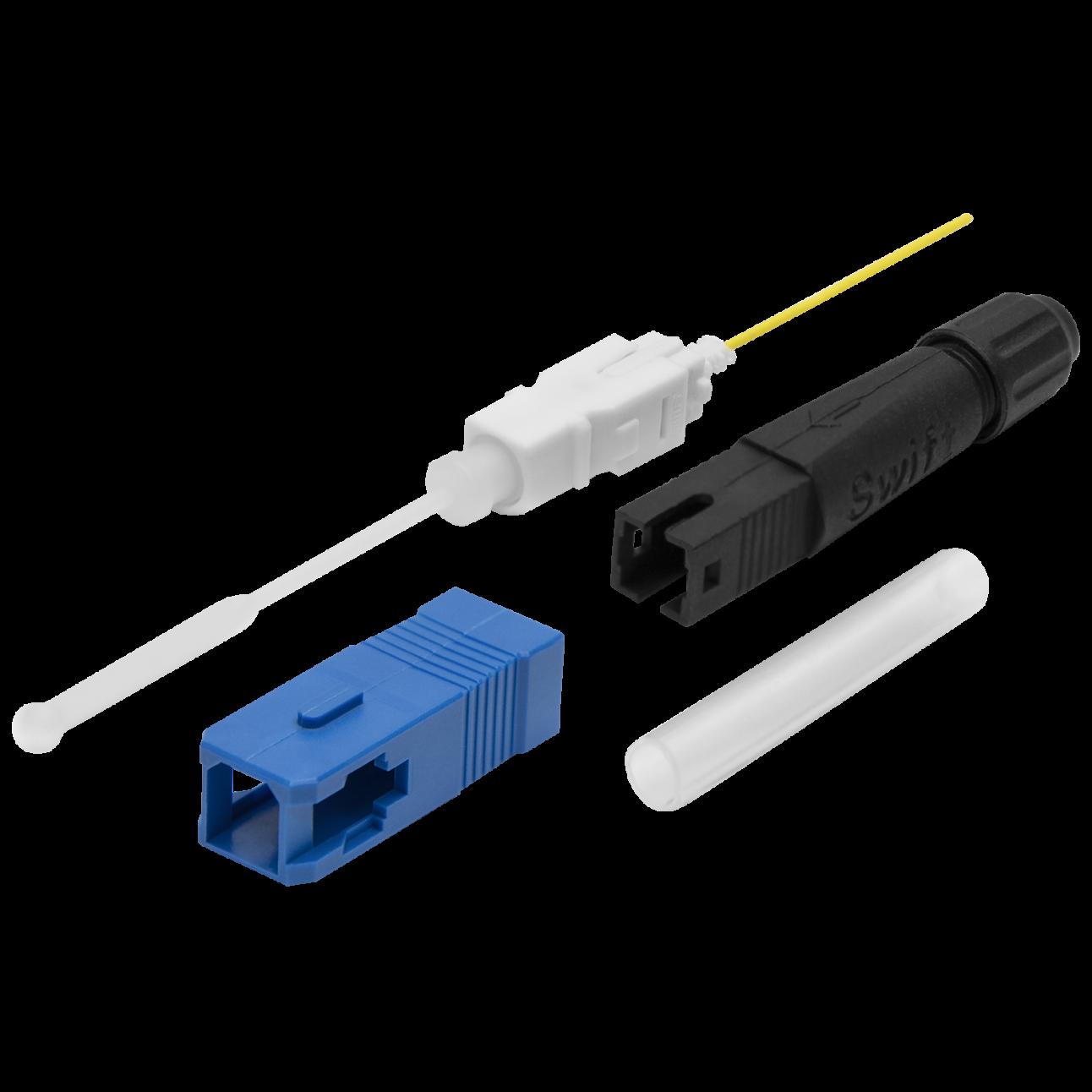 """Разъем оптический Ilsintech """"Splice-On Connector"""" SC/UPC для кабеля 3,0 мм / 2,0 х 3,1"""