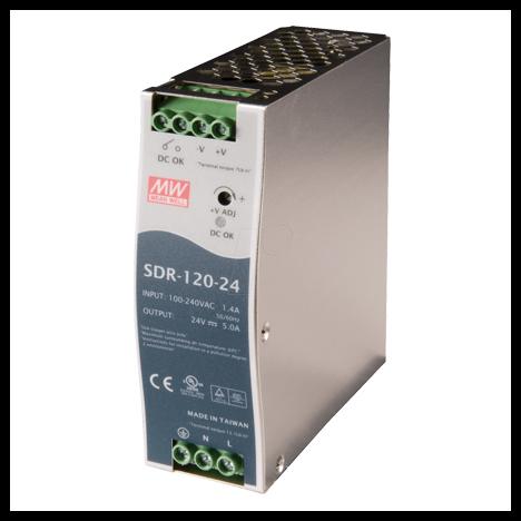 SDR-120-24 Блок питания на DIN-рейку, 24В, 40А, 960Вт Mean Well