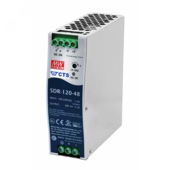 SDR-120-48 Блок питания на DIN-рейку, 24В, 40А, 960Вт Mean Well