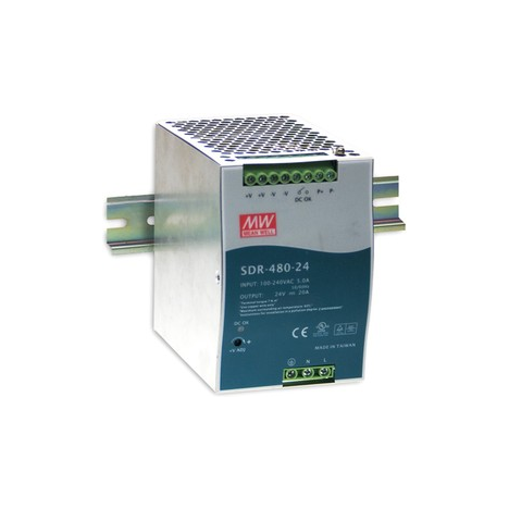 SDR-480Р-24 Блок питания на DIN-рейку, 24В, 20А, 480Вт Mean Well
