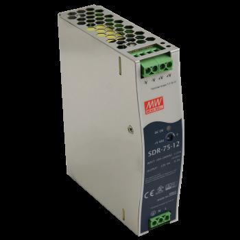 SDR-75-12 Мощный блок питания на DIN-рейку, 12В, 6,3А, 75Вт Mean Well