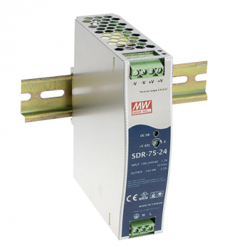 SDR-75-24 Блок питания на DIN-рейку, 24В, 3,2А, 76Вт Mean Well