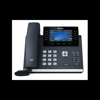 SIP-телефон Yealink SIP-T46U, цветной экран, 2 порта USB, 16 аккаунтов, BLF,  PoE, GigE, без БП