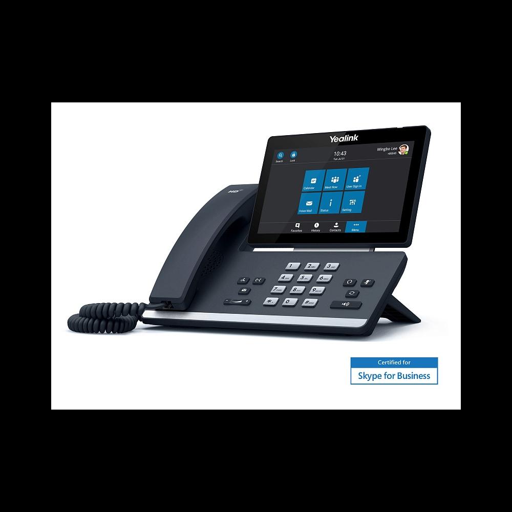 IP-телефон Yealink SIP-T58A, Skype for Business, Цветной сенсорный экран, WiFi, Bluetooth, GigE, без видео, без БП