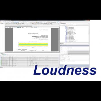 MultiScreen измерение интегрального уровня громкости Loudness Meter (1 канал)