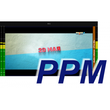 MultiScreen инструментальный контроль и визуализация звука PPM (1 канал)